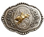 Wrangler Bull Rider Belt Buckle with display stand. Product code WC3